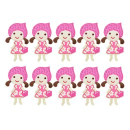 Wholesale Ironing Skirt - 10PCS flower skirt girl embroidery patches for clothing iron patch for clothes applique sewing accessories on stickers cloth iron on patches