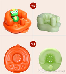 Wholesale Green Plastic Chairs - Inflatable Children's Chair Baby Sofa Kids Chair Baby Sofa Inflatable Kids Children Toddlers Learn stool Chair Training Bath Seat