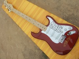 Wholesale Electric Guitars Srv - ALLNEWS paragraph SRV electric guitar body deep burgundy maple fingerboard 22 items