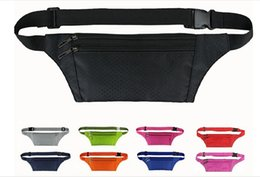 Wholesale Travel Pouch Money Waist Belt - Hot Sales Unisex Waist Bags Fanny Pack Belt Money Sport Pouch Waterproof Nylon Travel Hiking Bags Cycling Size 21*11CM BX101 Free Shipping