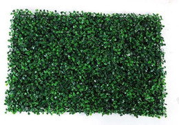 Wholesale garden christmas ornament - NEW 40x60cm Green Grass Artificial Turf Plants Garden Ornament Plastic Lawns Carpet Wall For Wedding Xmas Party Decor FREE SHIPPING MYY