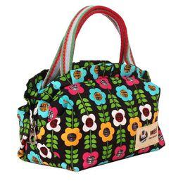 Wholesale Small Cloth Purses - Canvas Handbags Women Tote Bag Purses And Handbags Small Cloth Printing Fashion Cute Handbags Ladies Shells Bags Messenger Bag Totes