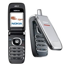 Wholesale Gsm Silver - Original Nokia 6060 GSM Mobile Phones 1.8Inch Screen Support FM Java Mini Filp Feature Phone
