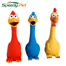 Wholesale Chicken Blue - Pet Toy Yellow Screaming Rubber Chicken Pet Toy Rubber Chicken Pet Toy Three Colors Blue Yellow And Red