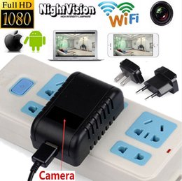 Wholesale Wifi Security Cameras For Android - H.264 1080P WIFI P2P Mini Charger Camera Motion Detection Spy Cam AC Charger Adaptor Hidden Security CCTV Camera For Android and IOS