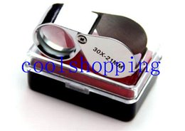 Wholesale Illuminated Loupe - 30x 21mm Lens Jewelry Magnifier Illuminated Loupe withLED