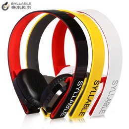Wholesale Yellow Speaker - 1pcs Original Syllable G600 Bluetooth4.0 CRS Rechargable Wireless Headphones Noise Cancelling Music Speakers HIFI Headsets with MIC DHL Free
