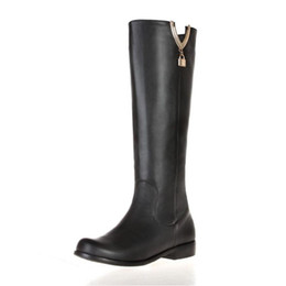 Wholesale Selling Boot For Women Knee - Hot Sell Genuine Leather High Leg Shoes For Fashion Girl And High Quality EXD053