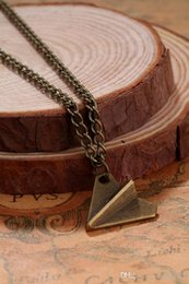 Wholesale One Direction Paper Plane - New One Direction Paper Plane Pendant Necklaces necklace jewelry one direction paper airplane necklaces