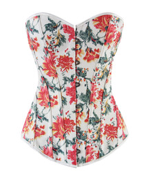 Wholesale Best Waist Cinchers - 2016 Sexy Girl's Floral skirt Strapless Corset Sexy Bustiers multicolor Floral Print Lady Best Body Shaper Corsets Gothic Shapewear