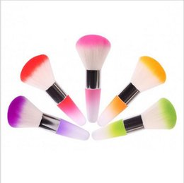 Wholesale Nail Dust Clean Brush - Hot!! Dust Powder Brushes Flocking Remover Cleaner Concealer Foundation Makeup Cosmetic Brushes Manicure Pedicure Tool Nail Art Nail Brush