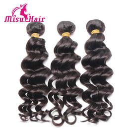 Wholesale Deep Brazilian Curls - Wholesale Human Hair Waves Deep Wave Loose Curl 3Pcs lot 100% Human Hair Weave Brazilian Loose Wave Misu Hair