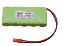Wholesale 6v Rechargeable Pack - free shipping good quality 5 x 2 3AA 6V 600mAh ni-mh rechargeable battery pack for electric toy meter battery
