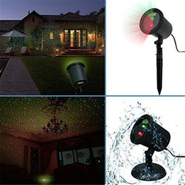Wholesale Outdoor Led Spotlight Green - Outdoor Laser Christmas Lights Projectors Waterproof Star Red and Green LED Spotlights for Garden House Yard Patio Landscape
