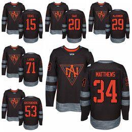 Wholesale Brandon Saad Jersey - North America 2016 World Cup Ice Hockey Jerseys 15 Jack Eichel 20 Brandon Saad 34 Auston Matthews 53 Shayne Gostisbehere 71 Dylan Larkin