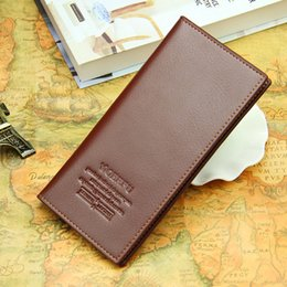 Wholesale Vogue Fashion Photos - New for Men Purse Christmas Gift Wallet Credit Card Holder Vertical Style Vogue Business Leather Black Brown