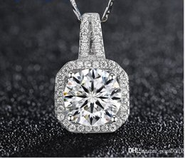 Wholesale Sterling Silver Pendant Blanks - rhinestone 925 sterling silver pendant artesanato blank bezel women necklace charms