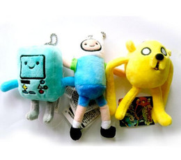 Wholesale Cartoon Network Adventure Time JAKE and FINN Plush Doll for Kids Girls Soft Stuffed Toy Figure Xmas Gift