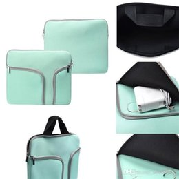 Wholesale Document Handbag - Zipper Liner Sleeve Bag Cover Case with Double Pockets For ALL Laptop 11inch 13 inch 15 inch Macbook Air Document handbag OPP BAG