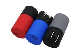 Wholesale External Battery Wall Charger - External Power Bank Backup Battery Pack Universal 2 in 1 USB US Wall Charger Solution Rechargeable Portable Charger for iphone samsung