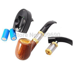 Wholesale Ego Starter Bottom - Wholesale-Cool E PIPE 618 Detachable Ego Electronic Cigarette Pipe Starter Kit with Bottom Coil Heating Atomizer cigarro eletronico vapor