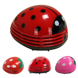 Wholesale Mini Home Vacuum Cleaner - Cute Lovely Ladybug Dust Collector Cleaning Brushes Mini Desktop Vacuum Cleaner Home Office Keyboard Cleaner Hot New