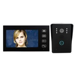 "Wholesale Security Camera W - 7"" TFT 2.4G Wireless Video Door Phone Intercom Doorbell Home Security Camera Monitor F1619A"