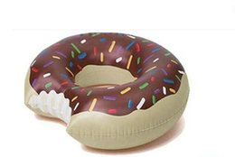 Wholesale Inflatable Huge - 90 120CM Huge donut pool inflatable toys floating plate adult   child buoy swim ring summer water toys.inflatable swimming ring