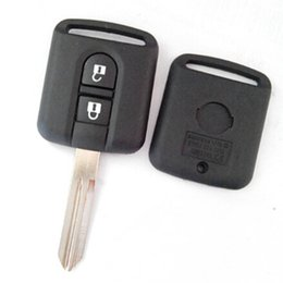Wholesale Key Shell Replacement Nissan - New replacement keyless entry case for Nissan 2 button remote key blank shell Fob cover 30pcs lot