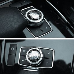 Árvore da etiqueta do carro on-line-Estilo do carro Interior 2.9 cm AMG prata árvore de maçã autocolante para Mercedes Benz A G C CZ GLE CLA GLA GLK W205 W212 W213 toda a classe