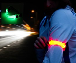 Wholesale Night Ride Bike Light - Outdoor Sports arm Wrist LED Light Silicone Bike Riding Night Runing Jogging Safety Warning Wrist Leg LED Lights