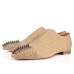 Gentleman kaki pissenlit Spikes plat casual business chaussures bas talon bas rouge partie de mariage hommes 39-46 ? partir de fabricateur