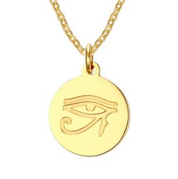 Wholesale Color Necklace Stainless Steel - New products listed fashion stainless steel gold color pendant necklace free shipping