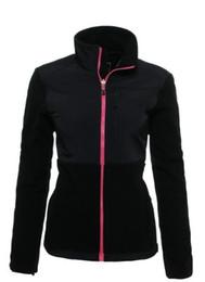 Wholesale Warm Cotton Winter Jacket - 2016 Brand New Women's Fleece Sports Jackets Coats Outdoor Winter SoftShell Windproof Warm Ski Down Bomber Jacket Kids Mens Pink White S-XXL