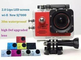 Wholesale Marine Wifi - SJ7000 Action Camera Wifi 2.0 inch LTPS LED HD 1080P Sports Waterproof DV Extreme Mini Cam Recorder Marine Diving New DVR Cameras JBD-N3