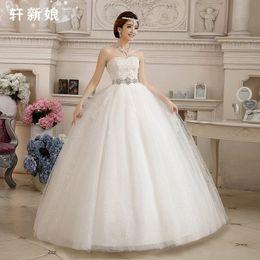 Wholesale Dresses For Pregnant Bride - Vestido De Novia 2016 The Bride Sweetheart Lace Crystal Beading Wedding Dresses Plue Size Wedding Dress for Pregnant Woman