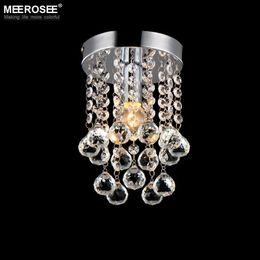 2019 pequeña lámpara de pasillo 1 luz lámpara de cristal mini lámpara pequeña lámpara de cristal claro claro para pasillo escalera pasillo luz de pasillo porche rebajas pequeña lámpara de pasillo