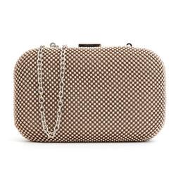 Due stile alluminio Flakes New 2016 donna Mini borsa da sera moda frizione sacchetto di banchetto ragazze tracolla Messenger Bag 8025 da