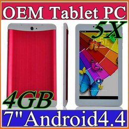 Wholesale Cheap Mtk - 5X MES 2017 cheap 7 inch 3G Phablet Android 4.4 MTK6572 Dual Core 4GB Dual SIM GPS Phone Call WIFI Tablet PC With Bluetooth EBOOK B-7PB