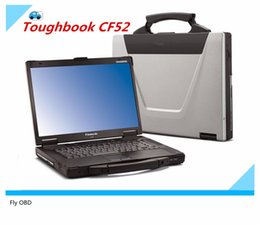 Wholesale Mb C3 Star Diagnosis - Free shipping For Panasonic CF-52 Military Toughbook Laptop CF52 Diagnosis Laptop can work for bmw icom a2 and mb star c3 c4 c5