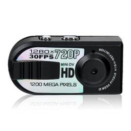 Wholesale Mini Thumb Dv Q5 - Q5 720P Mini Thumb DV Video TF Card PC Hidden Mini Sports Camera Record Motion Detection 30FPS Small DV