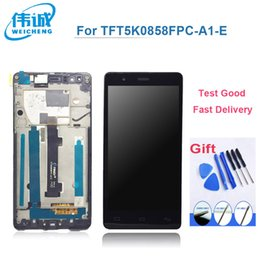 Wholesale Tactil Phone - obile Phone Accessories Parts Mobile Phone LCDs Original WEICEHNG Pantalla LCD+Tactil Touch Screen Digitizer For BQ Aquaris E5 lcd Displa...