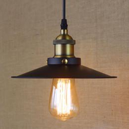 iluminación de la industria ligera Rebajas 22cm 28cm 36cm Hierro Retro industria de la vendimia colgante luz Campo Edison 110V 240V Lámpara colgante E27