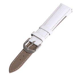 Argentina Ventas al por mayor 10 correas Nuevo 12 mm 14 mm 16 mm 18 mm 20 mm 22 mm 24 mm cocodrilo blanco reemplazo de grano correa de reloj correa de cuero genuino reloj de pulsera Suministro