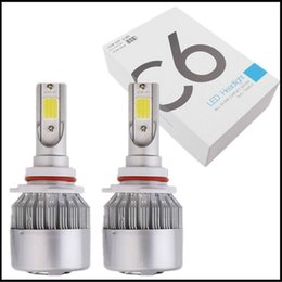 Wholesale Xenon Lights H4 - 2 Pcs C6 H4 Universal LED Car Light COB H7 H11 9005 9006 LED Xenon White Car Auto Vehicle Headlight Bulb Fog Head Lights Parking Lamp DC12V