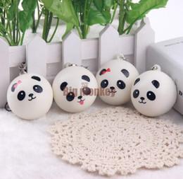 Wholesale Mini Panda Squishy - 40pcs Lot, 4CM PU 4 STYLES Kawaii Mini Panda Couple Squishy Cell Phone Charm Free Shipping