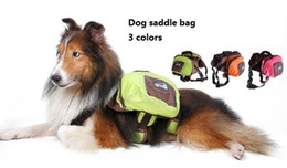 Wholesale Pet Dog Bag - Foldable Pet Saddle Bag Callapsible Dog backpack Outdoor Waterproof Hound Travel Camping Hiking Dog Back Pack for big dogs 5pcs lot 3 colors