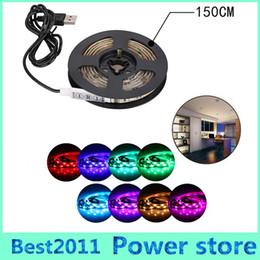 Wholesale Dc Power Mini Usb - 0.5m 1m 1.5m 2m 5050 RGB LED Light Strip With Mini Controller USB Powered Waterproof TV  PC  Laptop Background Parties Decoration