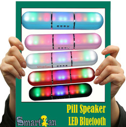 Wholesale Long Phone Call - New Long Pill Speaker X70 Pluse LED Flash Lighting Portable Wireless Bluetooth Speaker Bulit-in Mic Handsfree speaker Support FM phone call