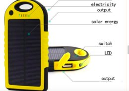 Wholesale Solar Outdoor Phone - poewr bank Solar Power Bank Panel 5000mah no retail packaging Moblie Phone CellPhone Smartphone 2 USB Ports Waterproof Outdoor Solar Battery